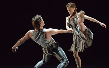 Adela Ramirez and Juan Rodriguez in James Streeter's A Touch For Eternity.© Dave Morgan. (Click image for larger version)