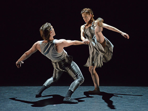 Adela Ramirez and Juan Rodriguez in James Streeter's <I>A Touch For Eternity</I>.<br />© Dave Morgan. (Click image for larger version)