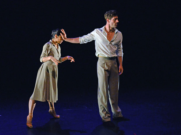 Crystal Costa and James Forbat in Stina Quagebeur's <I>A Room in New York</I>.<br />© Dave Morgan. (Click image for larger version)