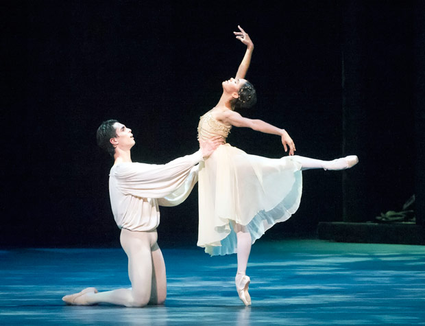 Misty Copeland and Alexandre Hammoudi in Romeo and Juliet.© Gene Schiavone. (Click image for larger version)