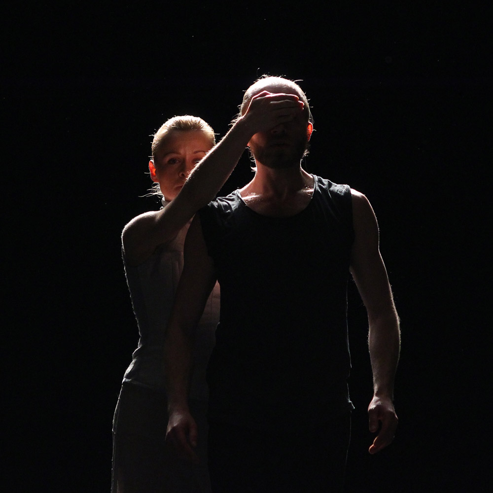 Angel of Death with Prospero: Beata Giza and Filip Michalak.<br /><I>The Tempest</I> by Izadora Weiss.<br />© K. Mystkowski. (Click image for larger version)