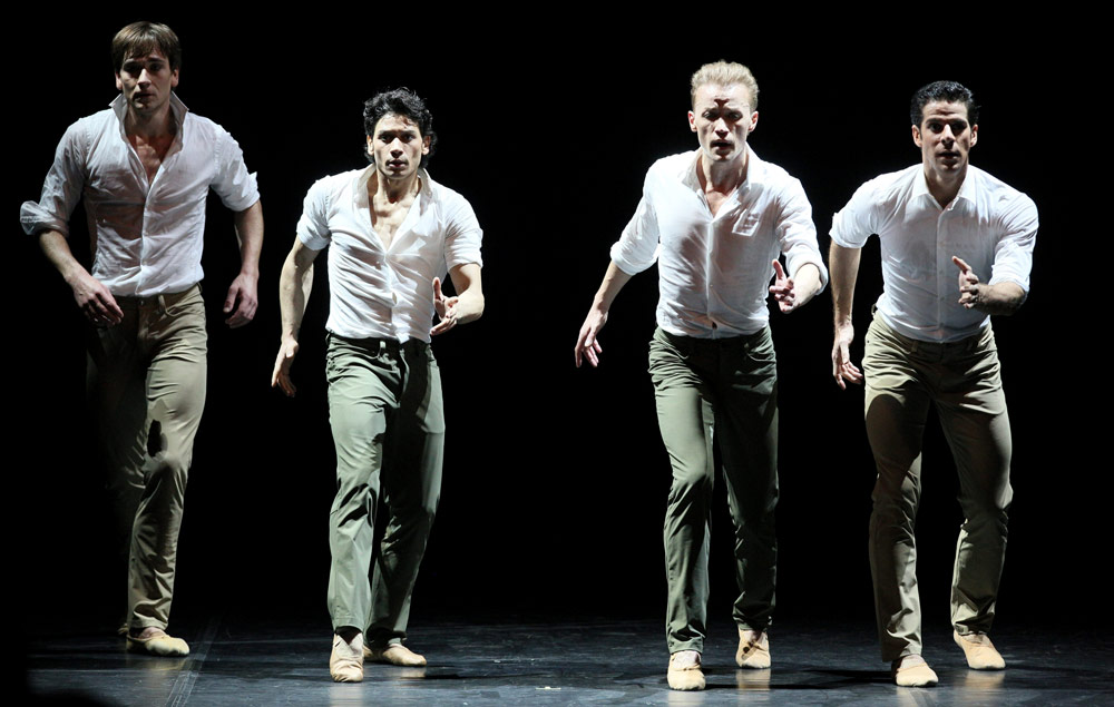 Friedemann Vogel, Herman Cornejo, Denis Matvienko and Marcelo Gomes in Tristesse.© Stas Levshin. (Click image for larger version)