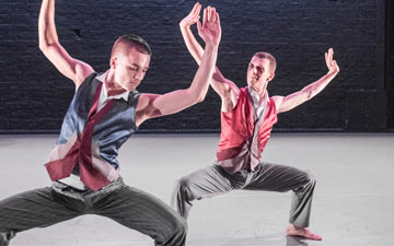 Liam Riddick and Jonathan Goddard in Mazur.© Tony Nandi. (Click image for larger version)