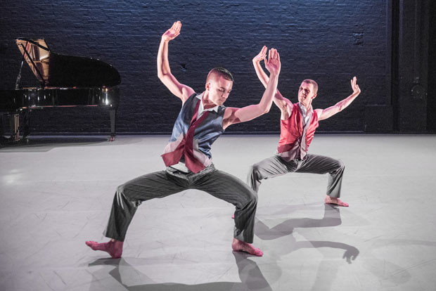 Liam Riddick and Jonathan Goddard in <I>Mazur</I>.<br />© Tony Nandi. (Click image for larger version)