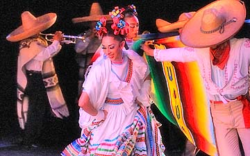 Ballet Folklorico De Mexico in Charreada.© Ballet Folklorico De Mexico De Amalia Hernandez. (Click image for larger version)