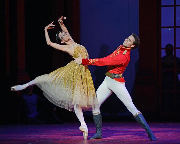 Anna Tsygankova and Matthew Golding in Christopher Wheeldon's <I>Cinderella</I>.<br />© Dave Morgan. (Click image for larger version)