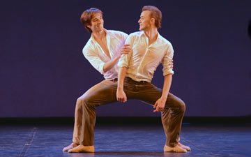 Friedemann Vogel and Denis Matvienko in Tristesse by Marcelo Gomes.© Dave Morgan. (Click image for larger version)