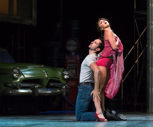 Zizi Strallen and Chris Trenfield in The Car Man.© Foteini Christofilopoulou. (Click image for larger version)