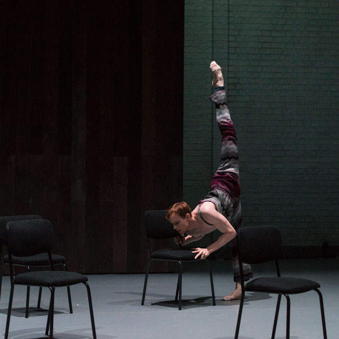 Edward Watson in Javier De Frutos' First and Wait, part of Other Stories.© Foteini Christofilopoulou. (Click image for larger version)
