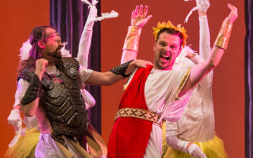 Pete Shenton and Tom Roden in Hercules.© Foteini Christofilopoulou. (Click image for larger version)