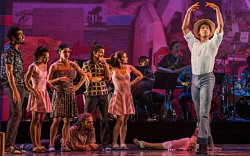 Carlos Acosta & members of Danza Contemporanea de Cuba in Tocororo Suite.© Foteini Christofilopoulou. (Click image for larger version)