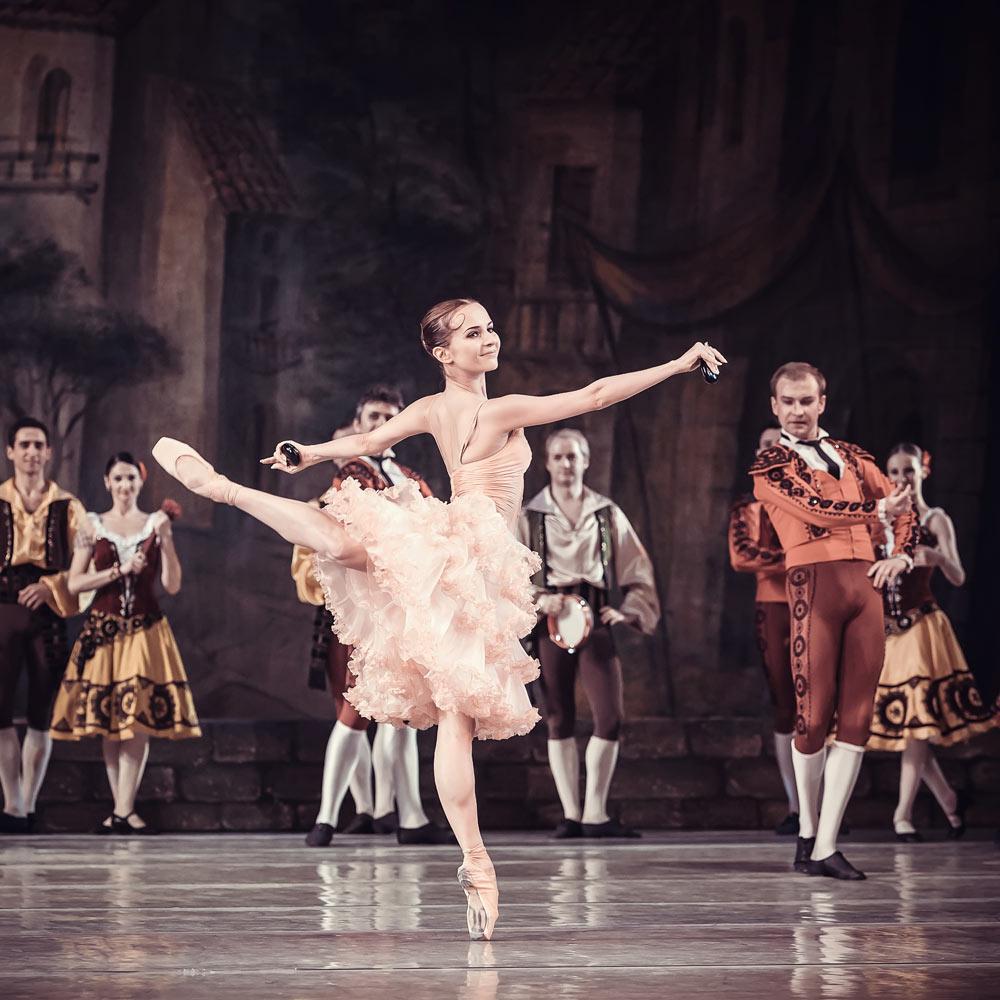 Kateryna Khaniukova in Don Quixote.© Ksenia Orlova. (Click image for larger version)