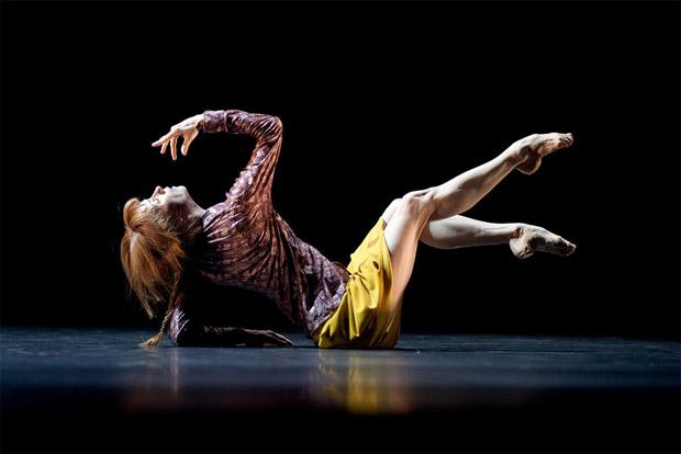 Sylvie Guillem in Mats Ek's Bye.<br /> © Lesley Leslie-Spinks. (Click image for larger version)