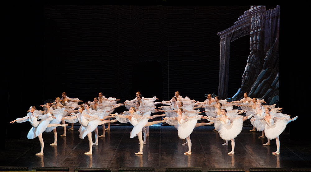 St Petersburg Ballet Theatre in <I>La Bayadere</I>'s Kingdom of the Shades.<br />© Andrei Klemeshev. (Click image for larger version)