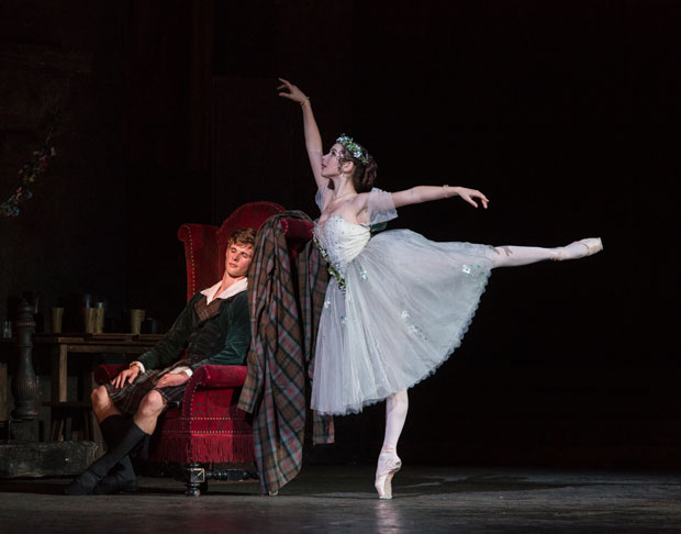 Luke Schaufuss and Sarah Thompson in La Sylphide.© Foteini Christofilopoulou. (Click image for larger version)