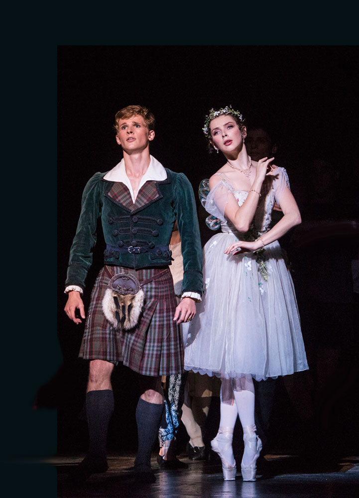 Luke Schaufuss and Sarah Thompson in <I>La Sylphide</I>.<br />© Foteini Christofilopoulou. (Click image for larger version)