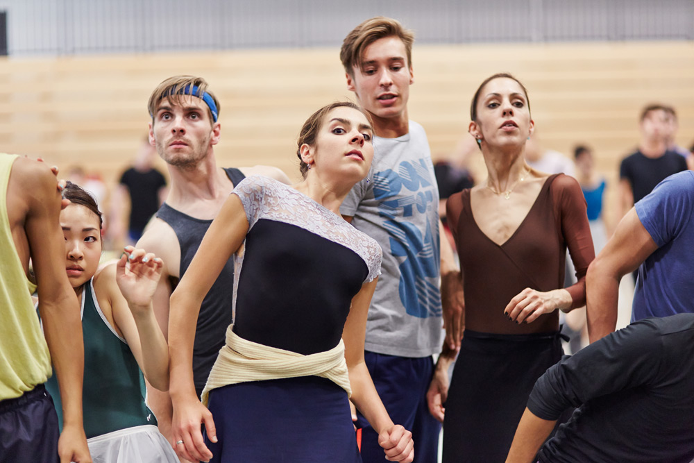 Northern Ballet dancers in rehearsal for <I>1984</I>.<br />© Justin Slee. (Click image for larger version)