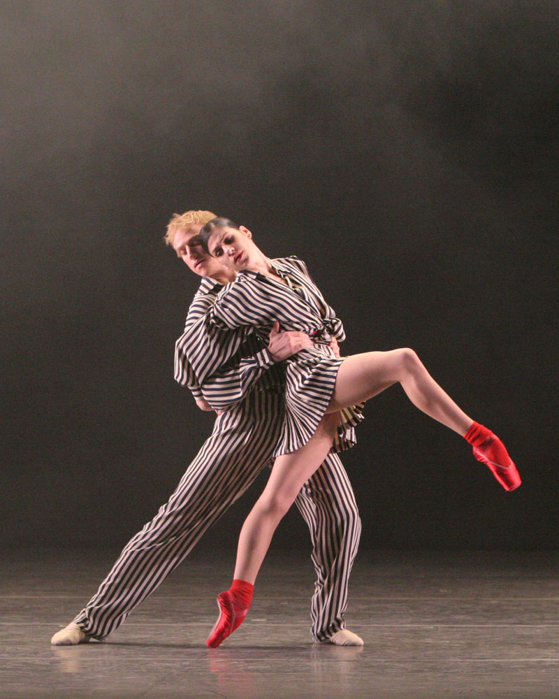 Paloma Herrera and David Hallberg in Twyla Tharp's In The Upper Room.© Marty Sohl. (Click image for larger version)