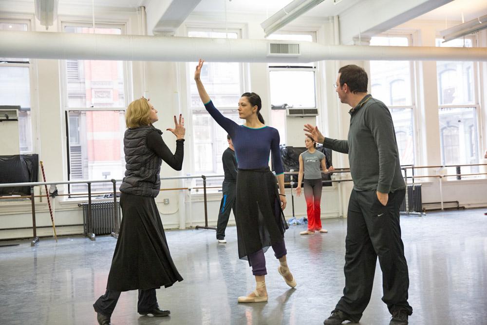 Nancy Raffa, Veronika Part and Alexei Ratmansky in Sleeping Beauty rehearsal.© Rosalie O'Connor. (Click image for larger version)