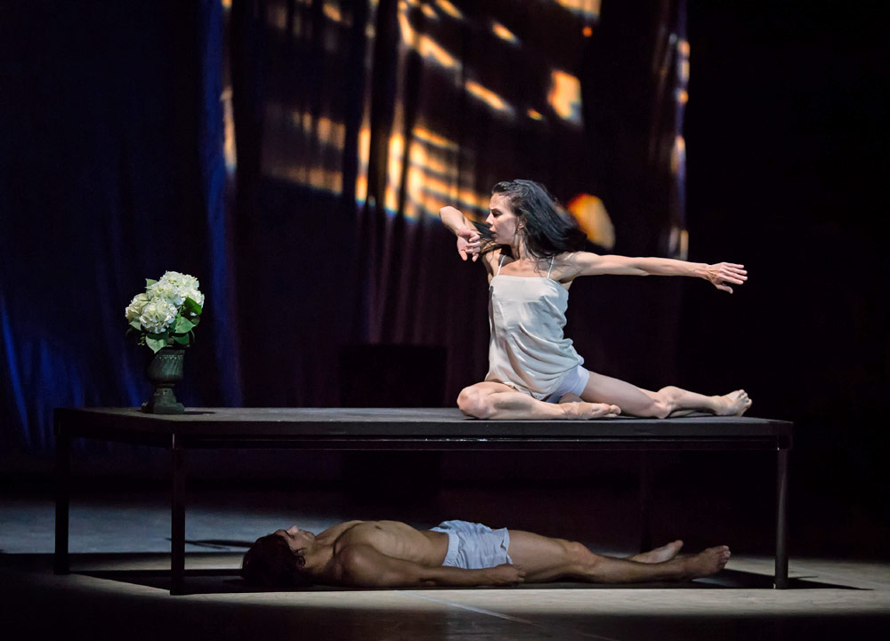 Natalia Osipova and Ivan Vasiliev in <I>Facada</I>.<br />© Souheil Michael Khoury. (Click image for larger version)