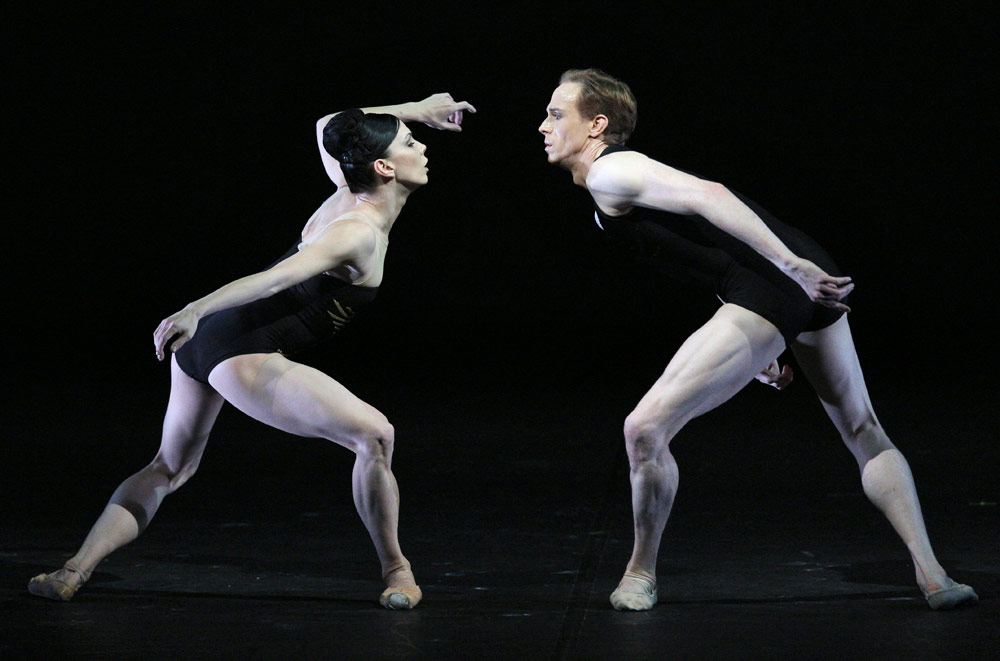 Natalia Osipova and Edward Watson in <I>Zeitgeist</I>.<br />© Souheil Michael Khoury. (Click image for larger version)