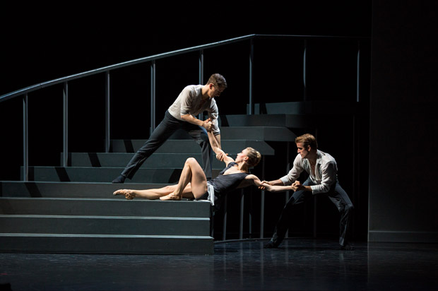 Thomas Edwards, Constance Devernay and Victor Zarallo in Javier de Frutos' <I>Elsa Canasta</I>.<br />© Andy Ross. (Click image for larger version)