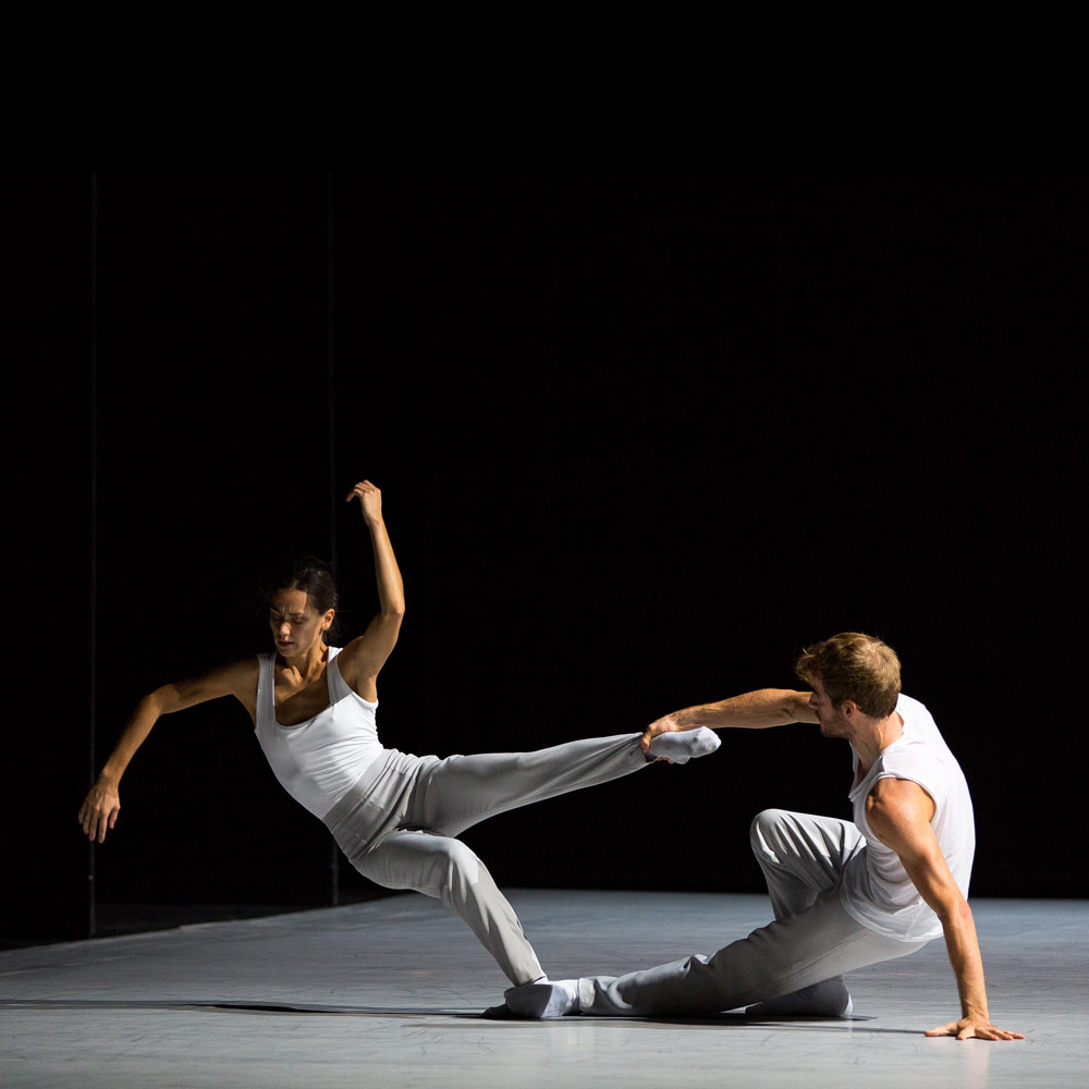 Sophie Martin and Victor Zarallo in Bryan Arias' Motion of Displacement.© Andy Ross. (Click image for larger version)