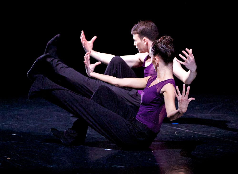 Nicholas Shoesmith and Luciana Ravizzi in Sophie Laplane's Oxymore, presented as part of Scottish Ballet's 4 day Dance Odysseys programme at the 2013 Edinburgh Festival.© Andrew Ross. (Click image for larger version)