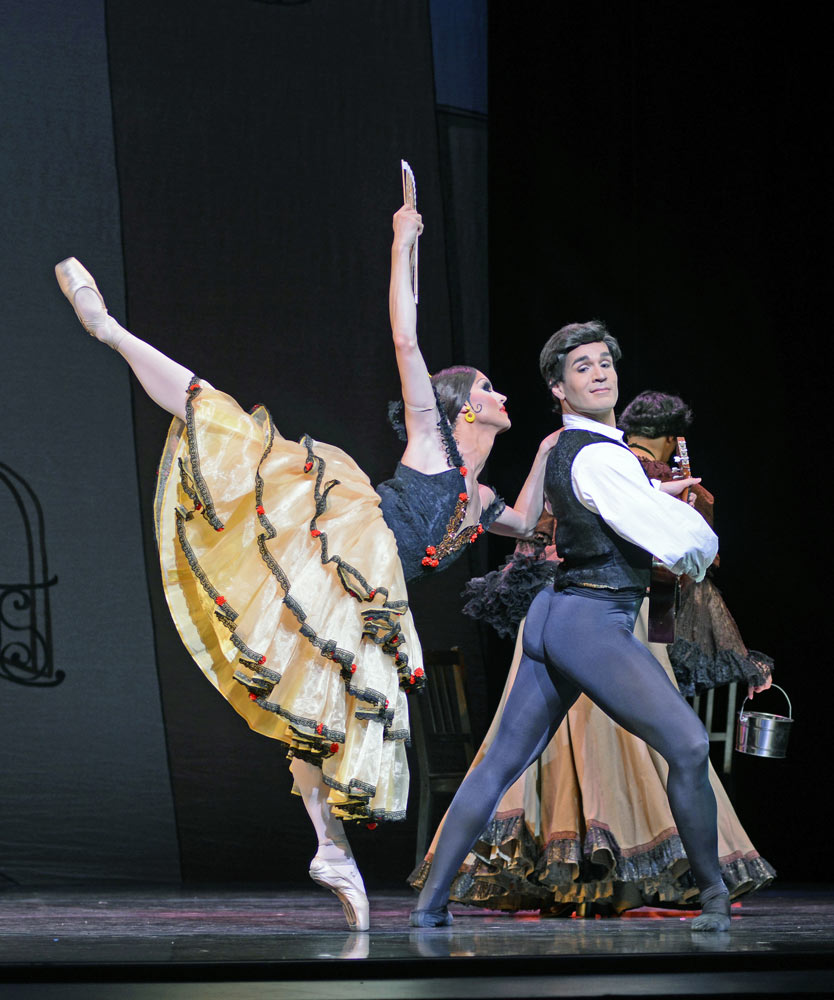 Chase Johnsey and Paolo Cervellera as Yakatarina Verbosovich and Vyacheslav Legupski in Don Quixote.© Dave Morgan. (Click image for larger version)