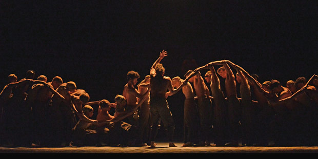 English National Ballet in in Akram Khan's Dust.© Dave Morgan. (Click image for larger version)
