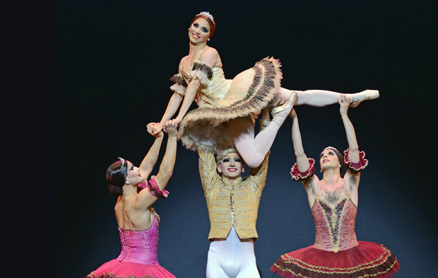 Chase Johnsey and Giovanni Goffredo, as Yekaterina Verbosovich and Sergey Legupski, in Paquita.© Dave Morgan. (Click image for larger version)
