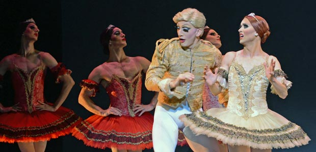 Chase Johnsey and Giovanni Goffredo, as Yekaterina Verbosovich and Sergey Legupski, in Paquita.<br />© Dave Morgan. (Click image for larger version)