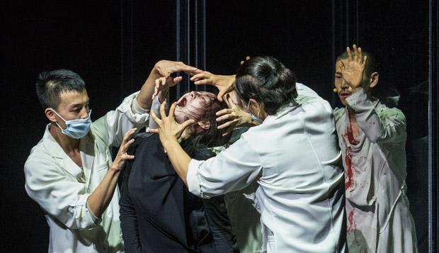Fang Yin, Yabin Wang, Qing Wang and Kazutomi Kozuki in <I>Genesis 生长</I>.<br />© Foteini Christofilopoulou. (Click image for larger version)