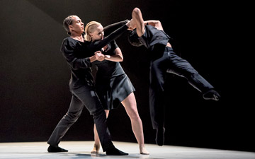 Liam Francis, Simone Damburg Würtz and Dane Hurst in Didy Veldman's The 3 Dancers.© Stephen Wright. (Click image for larger version)