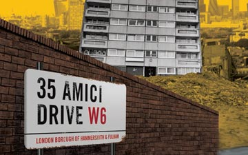 Poster for 35 Amici Drive.© Turtle Key Arts. (Click image for larger version)