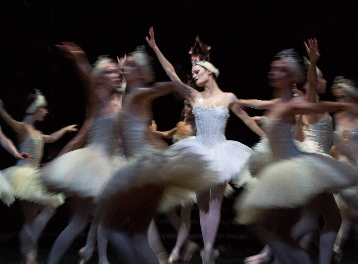 Delia Mathews in <I>Swan Lake</I>.<br />© Andrew Ross. (Click image for larger version)