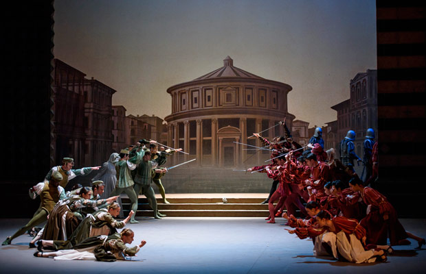 English National Ballet in Romeo and Juliet.© Bill Cooper. (Click image for larger version)