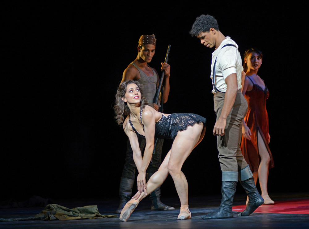 Marianela Nunez and Carlos Acosta in his Carmen.© Dave Morgan, courtesy the Royal Opera House. (Click image for larger version)