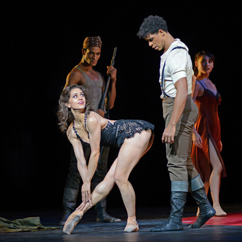Marianela Nunez and Carlos Acosta in his Carmen.© Dave Morgan, courtesy the Royal Opera House. (Click image for larger version)