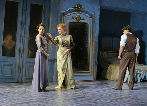 Alessandra Ferri, Francesca Annis and Herman Cornejo in <I>Chéri</I>.<br />© Dave Morgan, courtesy the Royal Opera House. (Click image for larger version)