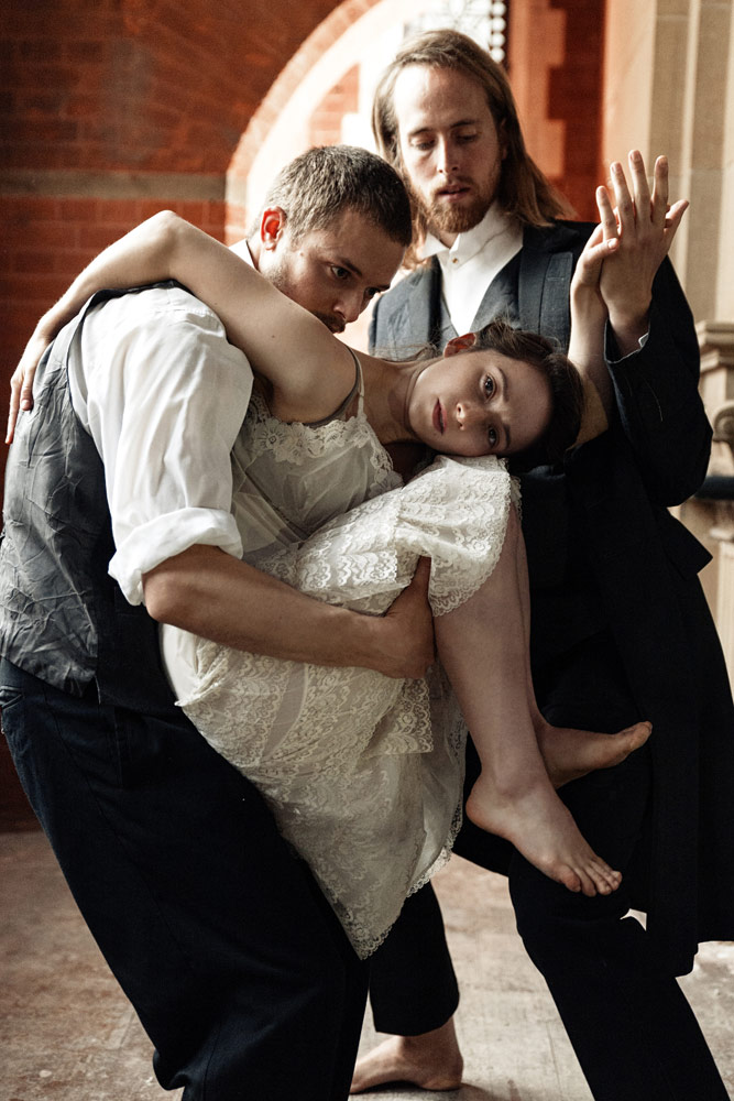 Daniel Whiley, Faith Prendergast and Karl Fargerlund-Brekke in publicity image for I Loved You and I Loved You.© Danilo Moroni. (Click image for larger version)