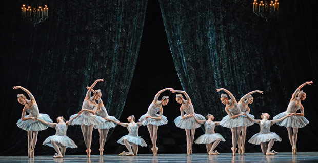 Birmingham Royal Ballet in Balanchine's <I>Theme and Variations</I>.<br />© Dave Morgan. (Click image for larger version)