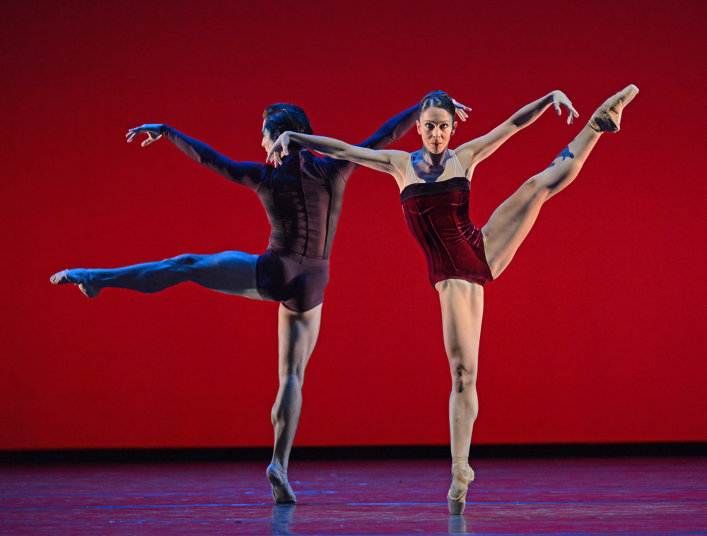 Laura Morera and Tristan Dyer in Liam Scarlett's Viscera.© Dave Morgan, courtesy the Royal Opera House. (Click image for larger version)