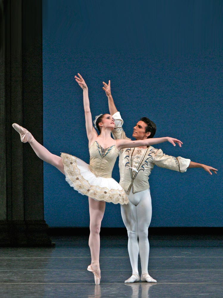 Megan Fairchild and Joaquin De Luz in <I>Theme and Variations</I> from George Balanchine's <I>Tchaikovsky Suite No. 3</I>.<br />© Paul Kolnik. (Click image for larger version)
