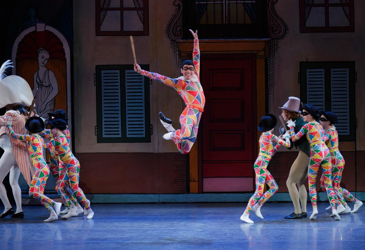 Joaquin De Luz in George Balanchine's Harlequinade.© Paul Kolnik. (Click image for larger version)