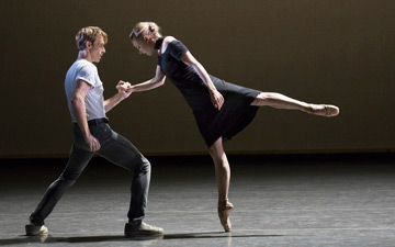 Adrian Danchig-Waring and Sara Mearns in Kim Brandstrup's Jeux.© Paul Kolnik. (Click image for larger version)