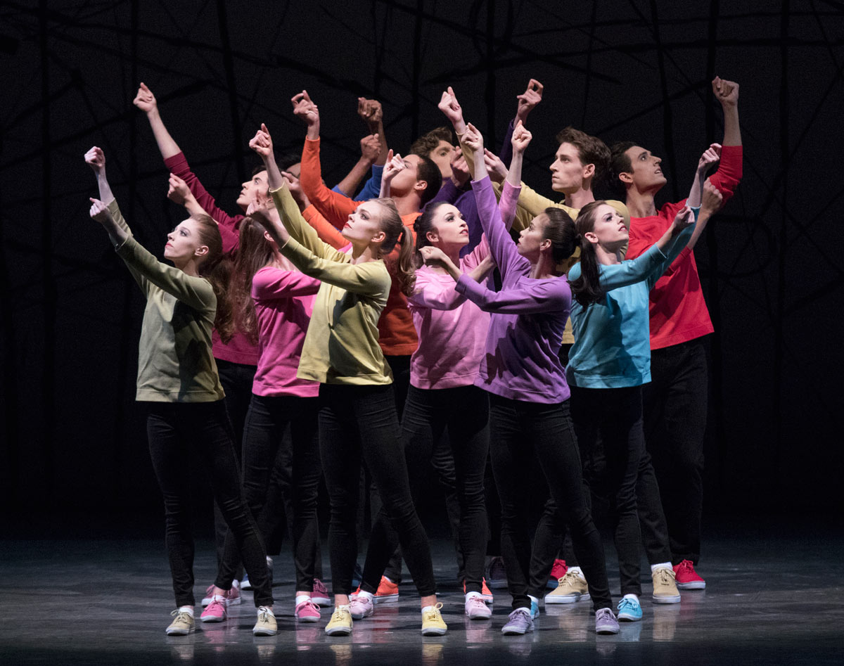 New York City Ballet in Jerome Robbins' N.Y. Export: Opus Jazz.© Paul Kolnik. (Click image for larger version)