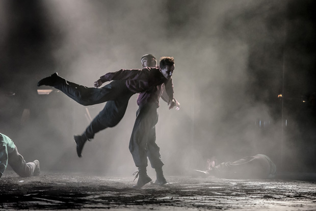 Bradley Waller and Andrea Carrucciu in <I>Young Men</I>.<br />© Stephen Wright. (Click image for larger version)