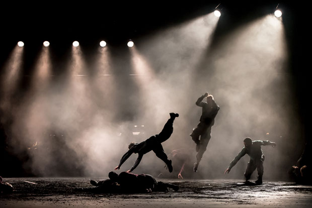 BalletBoyz in <I>Young Men</I>.<br />© Stephen Wright. (Click image for larger version)