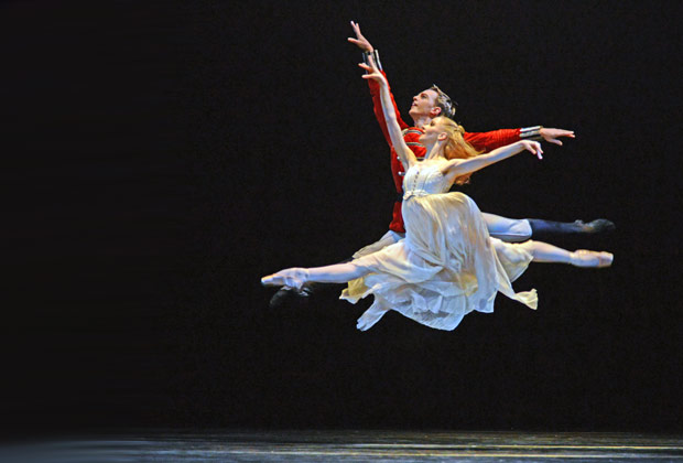 Karla Doorbar and Joseph Caley in <I>The Nutcracker</I>.<br />© Dave Morgan. (Click image for larger version)